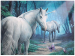 unicorns fantasy canvas butterflys Lisa Parker