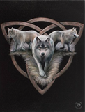 Wolf trio Anne Stokes canvas