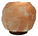 Natural himalayan salt tealight holder wooden base