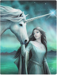 unicorn aurora green blue fantasy magic mythical