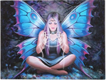 fairy wings pentagram magic mythical fantasy canvas picture