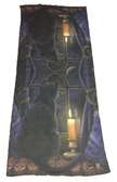 midnight vigil cat hanging wall art decoration scarf