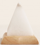 pyramid white salt lamp LED changing colour