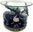 lucky elephant oil burner black silver