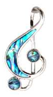 necklace paua silver new zealand treble clef