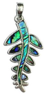 necklace paua silver new zealand silver fern