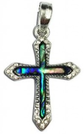 necklace paua silver new zealand cross jewels gems