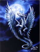 Silver Dragon Anne Stokes canvas