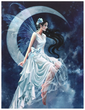 frost moon fairy canvas design blue fantasy